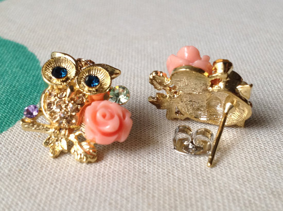 owls for the wedding 2012 reception trends handmade owl bridesmaid earrings 2