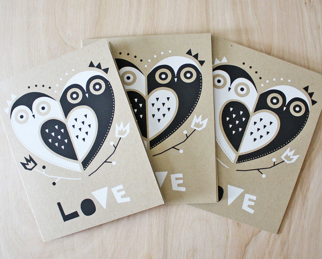 owls for the wedding 2012 reception trends handmade owl LOVE cards
