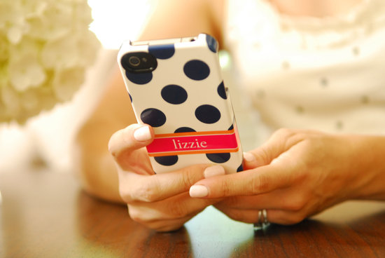 favorite iphone cases for brides modern tech weddings navy polka dot