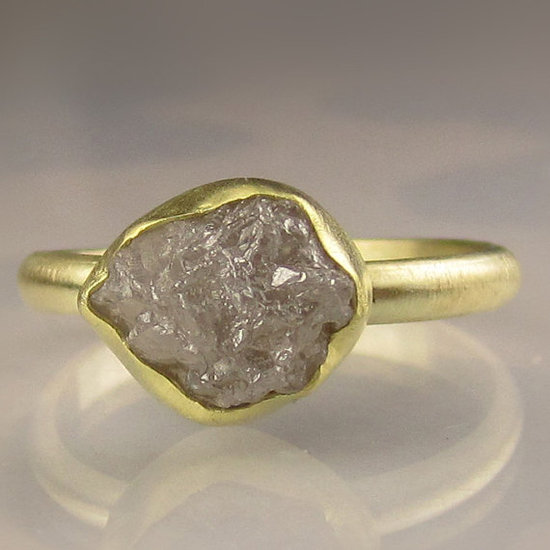 photo of Rough Diamond Engagement Ring by Etsy seller Janish Jewels, $625