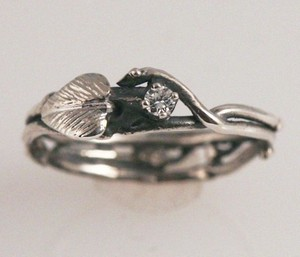 photo of Simply Diamond Eco-Engagement Ring by Etsy seller Fernando Jewelry, $225