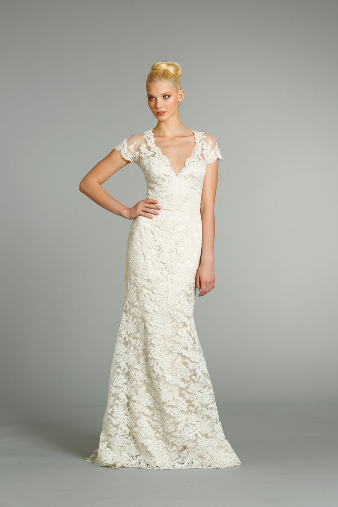 photo of fall 2012 wedding dresses JLM couture bridal Jim Hjelm 8252 Front