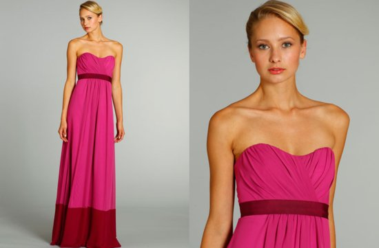 bridesmaids dresses for stylish bridal parties Jim Hjelm from JLM Couture berry pink