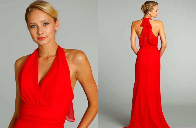 Bridesmaids Dresses For Stylish Bridal Parties Jim Hjelm From Jlm Couture Red Halter