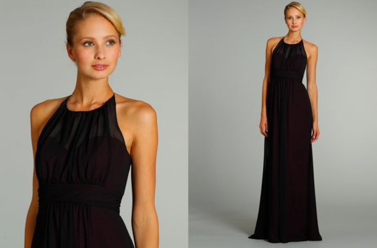 bridesmaids dresses for stylish bridal parties Alvina Valenta from JLM Couture black halter