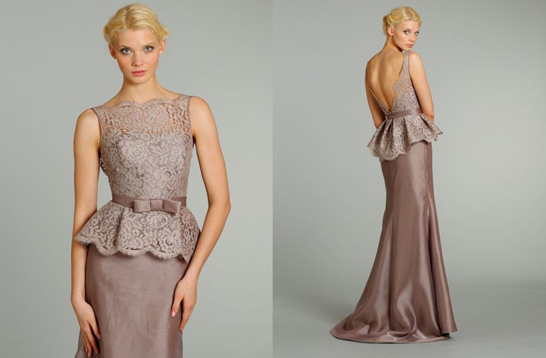 bridesmaids dresses for stylish bridal parties Noir by Lazaro from JLM Couture long mauve