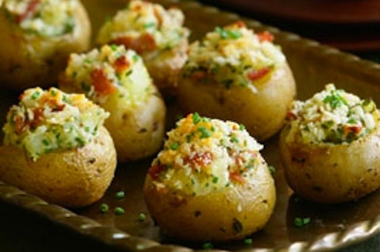mini twice baked potatoes