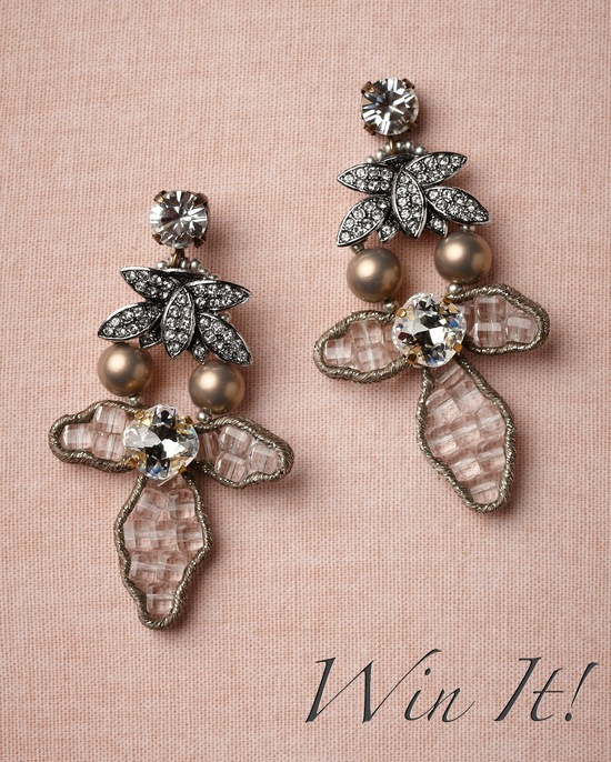 wedding giveaway for brides and wedding guests covetable earrings from BHLDN