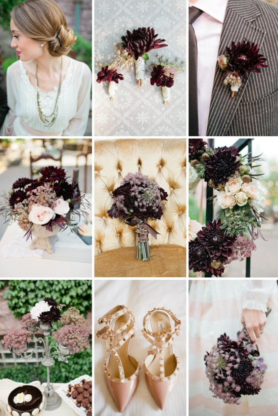 autumn elegance wedding decor flowers inspiration