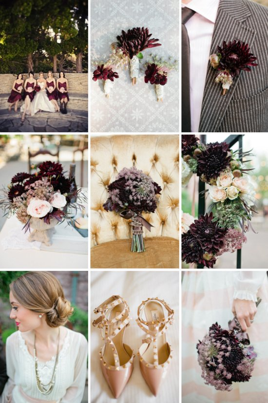 Autumn elegance wedding decor flowers inspiration color palettes