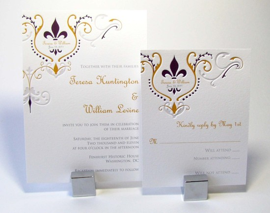weddings by style Parisian romance wedding decor inspiration letterpress invites