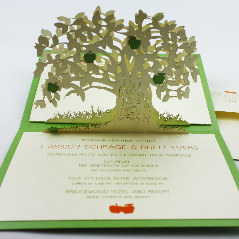 wedding invitation pop up card invites 1