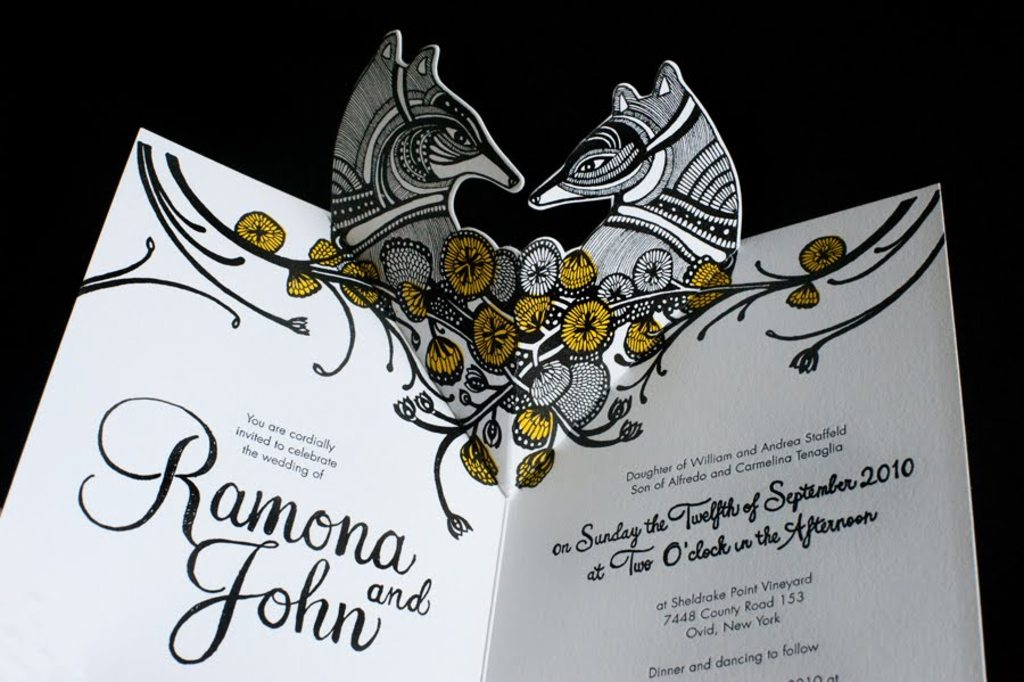 amazing wedding invitation pop up card invites 3