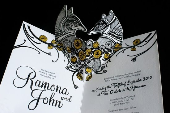 gorgeous pop up wedding invitations elegant black white gold