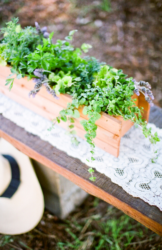 Herb Garden Wedding Centerpieces