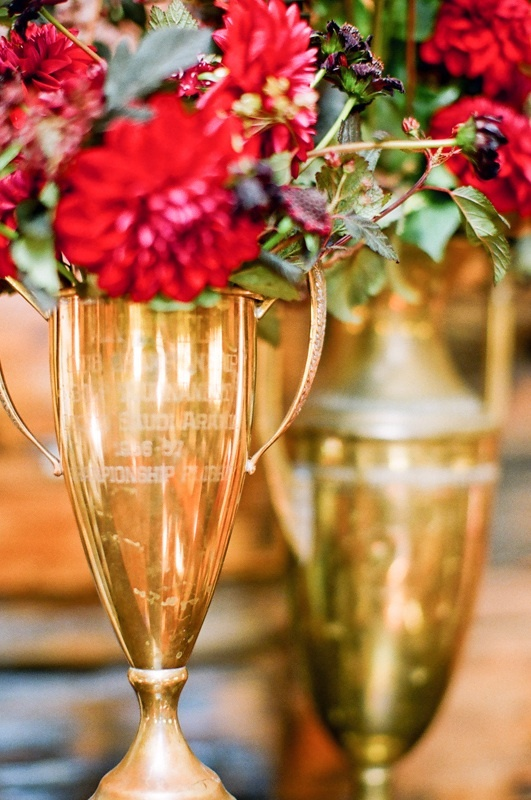 Red + Brass Centerpiece