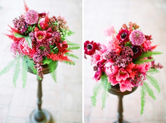 wedding flowers by color jewel tones