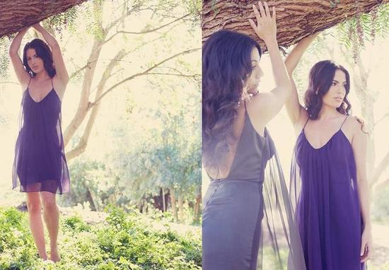 california cool bridesmaid dresses purple