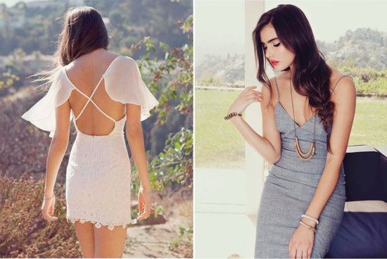 photo of Little White Dresses, Separates, and Bridesmaid Frocks that Exude California Cool