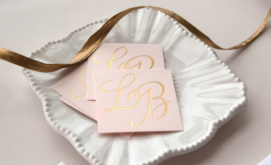 beautiful wedding invitations metallic foil stamping blush pink gold 3