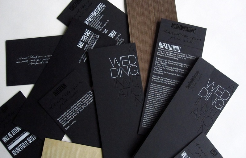 beautiful wedding invitations metallic foil stamped modern black white silver - Amazing Wedding Invitations