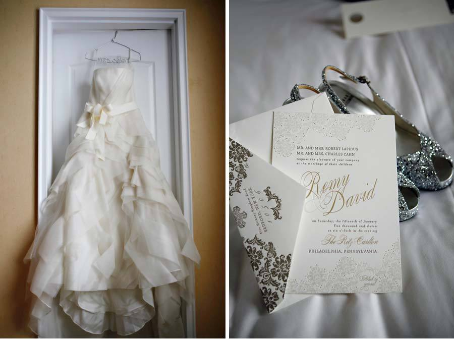 Elegant Foil Stamped Wedding Invitations Inspired By Vera Wang