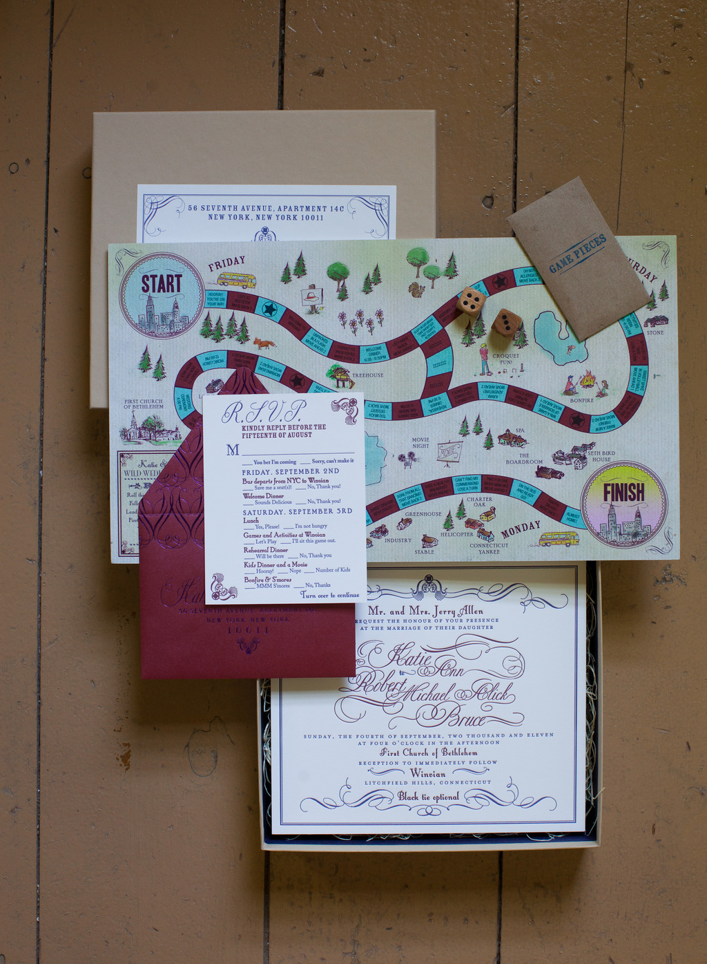 Playful Board Game Invitations