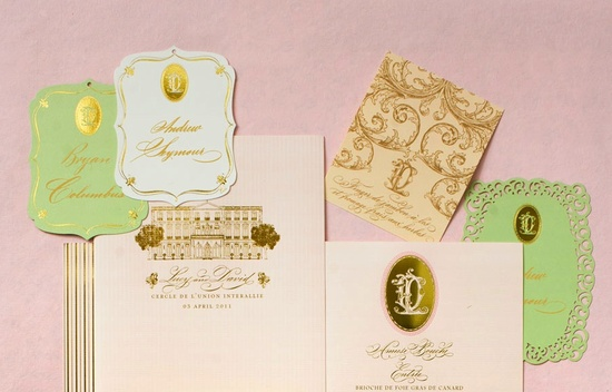 photo of gold foiled invitation