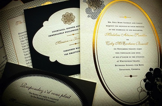 metallic foil stamped printed wedding invitations 1