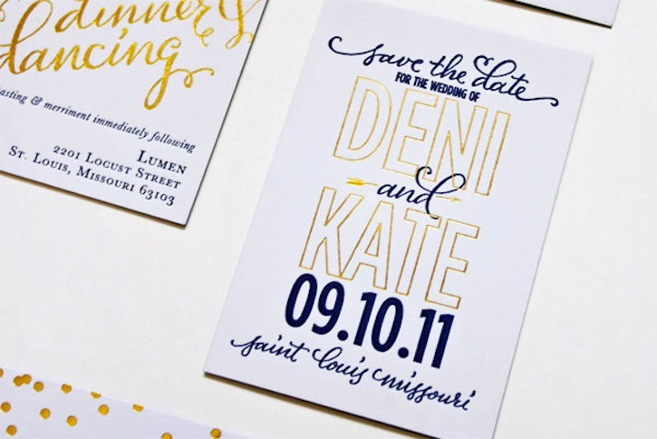 metallic foil stamped printed wedding invitations 2, Wedding invitations