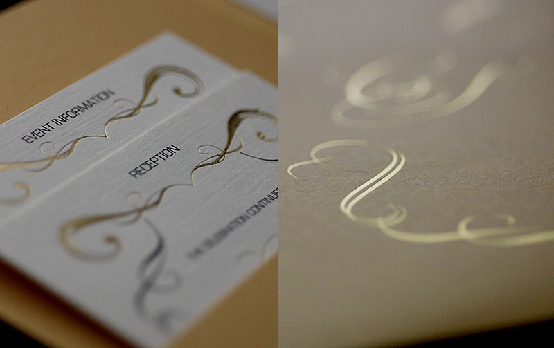 foil stamped wedding invitations elegant metallic bridal trends 1