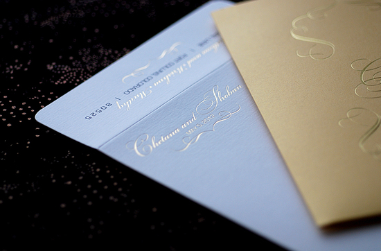 foil stamped wedding invitations elegant metallic bridal trends 3