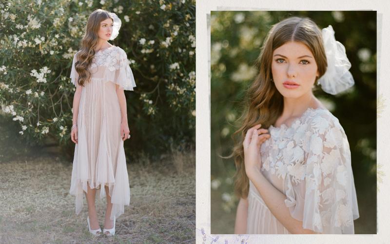 Ruche wedding dress for alternative vintage brides for Alternative to wearing a wedding dress