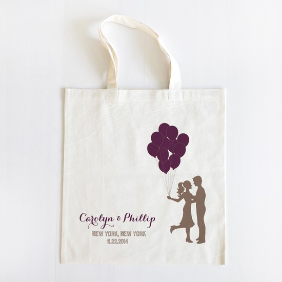 pre-wedding-gifts-for-the-bride-customized-silhouette-tote-bag