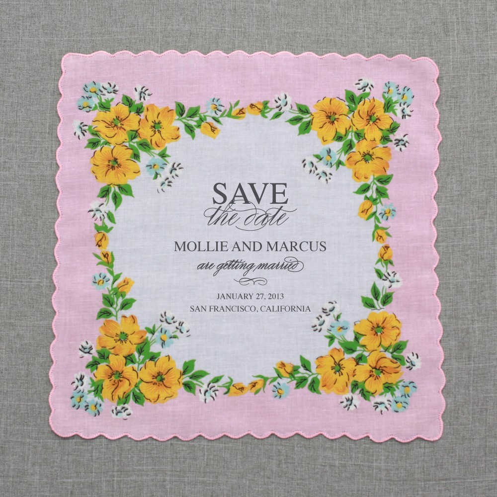 Unique-wedding-save-the-dates-hanky-invitations-light-pink-yellow.full