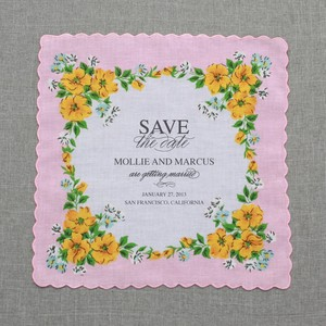 photo of Classic Custom Wedding Hankie