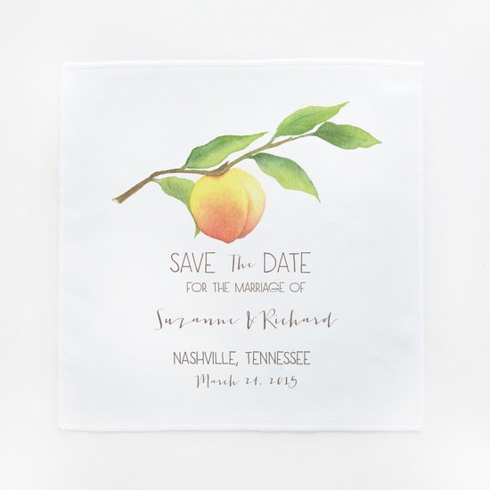 photo of Peachy Save the Date Hankies