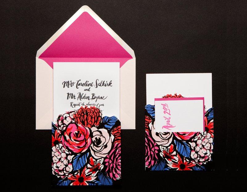 Bold-modern-floral-wedding-invitation-red-pink-blue-black.full