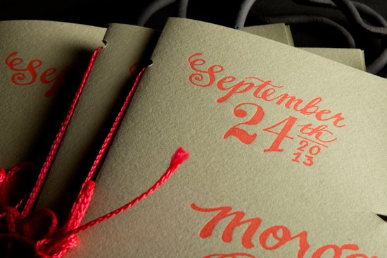 ladyfingers letterpress wedding invitations stationery rustic modern programs