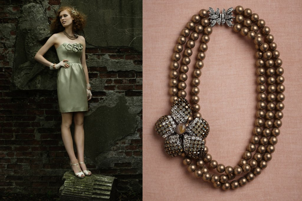 wedding jewelry for vintage brides BHLDN bridal necklace 1