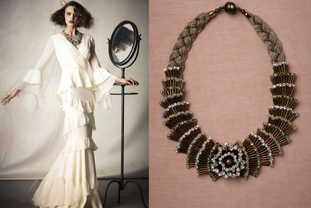 wedding jewelry for vintage brides BHLDN bridal necklace 2