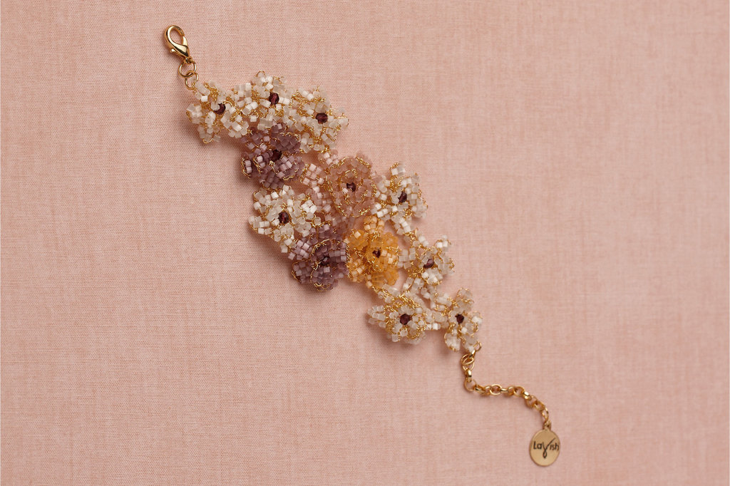 colorful bridal bracelet from BHLDN