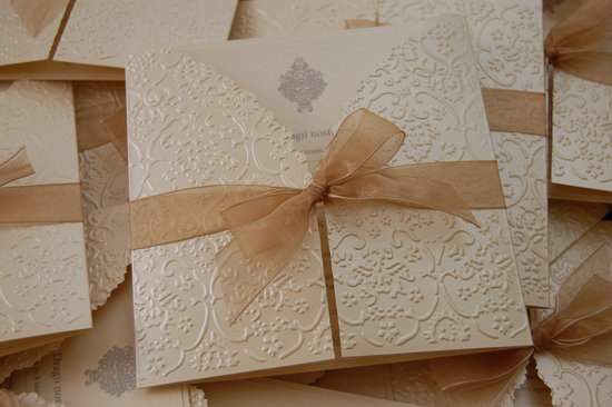 embossed wedding inspiration from Etsy cream invitations pocketfold