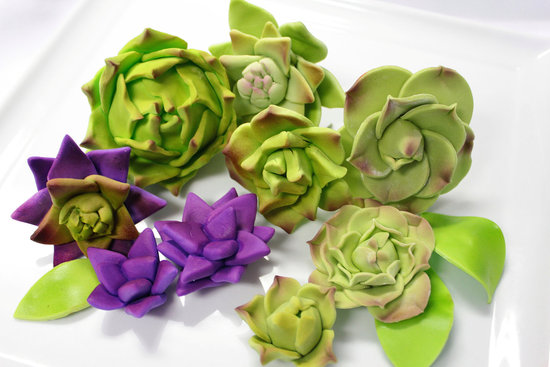 fondant wedding finds to add sweetness to handmade weddings green purple succulents