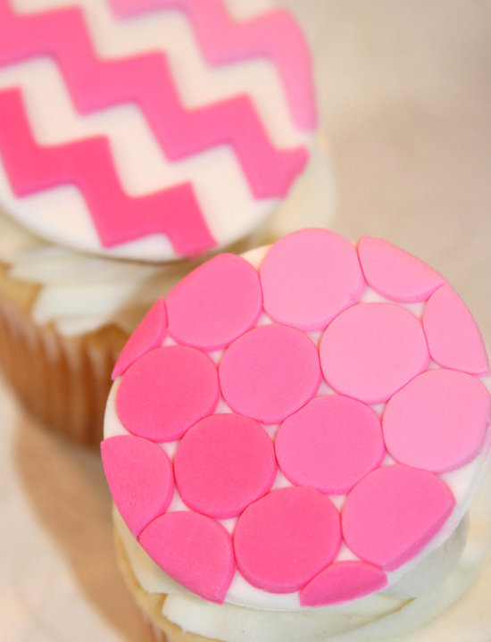 fondant wedding finds to add sweetness to handmade weddings pink modern dot chevron