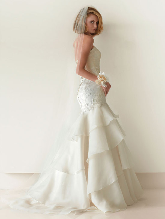 melissa sweet for davids bridal fall 2012 wedding dress bridal gown 251003