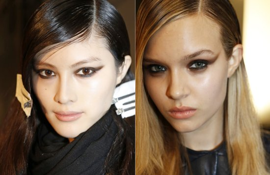 bridal beauty inspiration dramatic eyes Milan fashion week Mugler