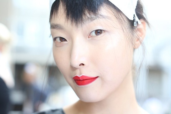 bridal beauty inspiration wedding day makeup Prada Milan fashion week 1