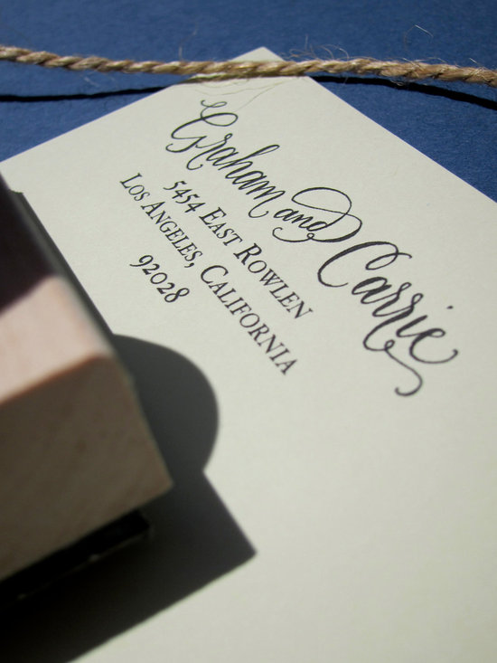 5 easy ways to personalize the wedding DIY weddings calligraphy stamp for invitations