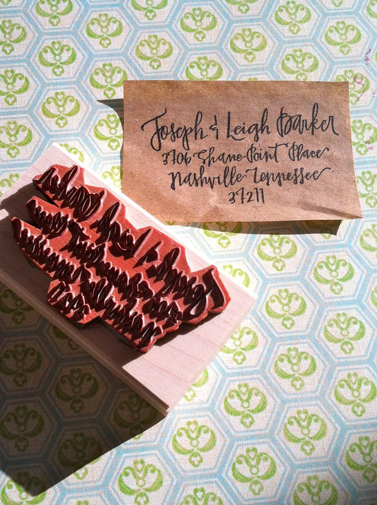5 easy ways to personalize the wedding DIY weddings return address stamp